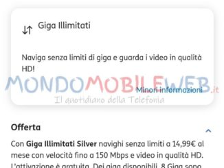 tim opzioni aggiuntive giga illimitati silver e gold con video in hd