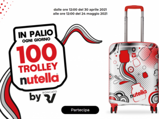 nutella 100 trolley roncato nutella limited edition in palio ogni giorno